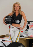 Gemma Garrett (Miss Great Britain 2008) is unveiled as the new Female Face of the 2008 Formula 1 Santander British Grand Prix in London