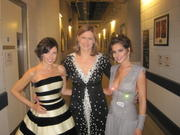 Cheryl Tweedy & Danni Minogue with Sarah Brown