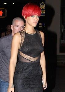 Rihanna sexy Nip Ring Candids New York